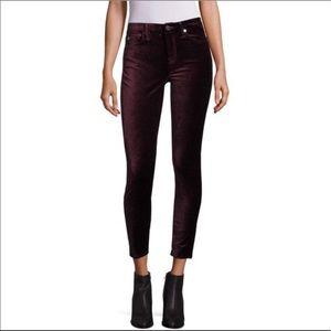 7 FOR ALL MANKIND Purple Velvet Skinny Slim Jeans